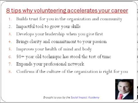 8 tips why volunteering accelerates your career