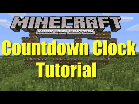 Minecraft Xbox 360 Easy Countdown Clock Tutorial for Hunger Games