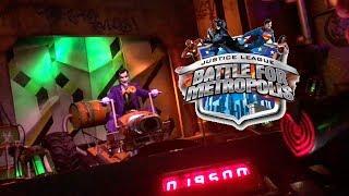 Justice League Battle for Metropolis Shooting Dark Ride Six Flags Great Adventure Full Onride POV