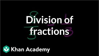 Understanding Division Of Fractions Fractions Pre Algebra Khan Academy