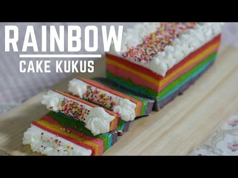 Resep  Bolu KUKUS 🍰🍰 Rainbow cake Bolu pelangi moist Lembut