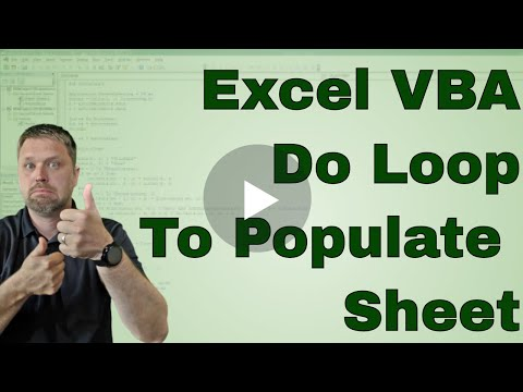 VBA Project Use a Do Loop to Popluate another sheet