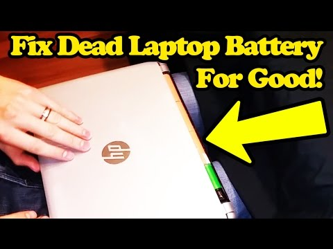 How To Fix A Dead Laptop Battery For Free - Hack