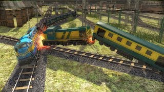 Indian Train Racing Games 3D - Multiplayer (Android Gameplay )