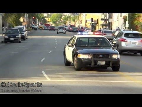 LAPD Police Car Responding