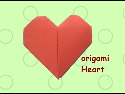 How to make a paper heart    easy origami heart    valentines day ideas    Craftastic