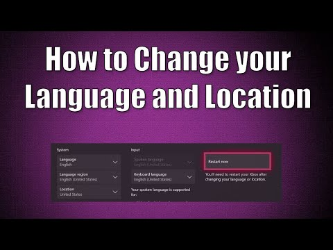 How to change your Game server/language on Xbox One