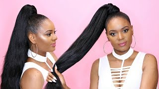 How To Do A Sleek Invisible High Ponytail : Affordable Top Knot Ponytail Hair Tutorial | Omabelletv