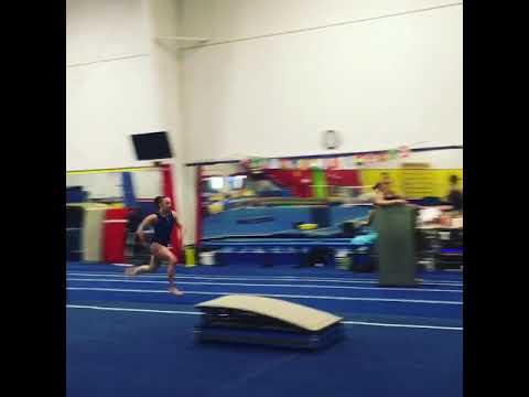 Front pike 1/2 to competition height mats