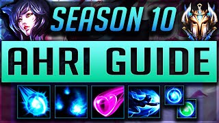 [GOD TIER] AHRI GUIDE SEASON 10 (2020) ULTIMATE GUIDE [BEST RUNES, ITEMS, GAMEPLAY, COMBOS] | Zoose