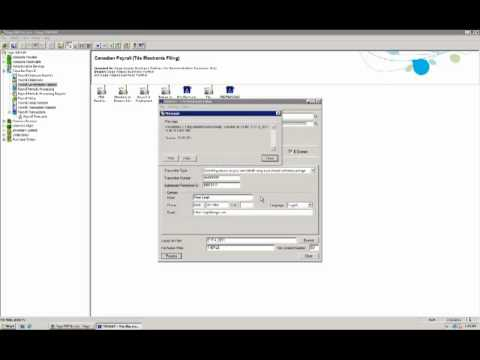 Sage 300 ERP (ACCPAC) Canadian Payroll T-4 Electronic Filing