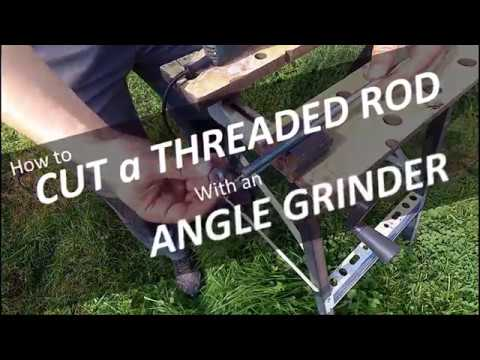 🛠️ How to CUT a THREADED ROD with an ANGLE GRINDER