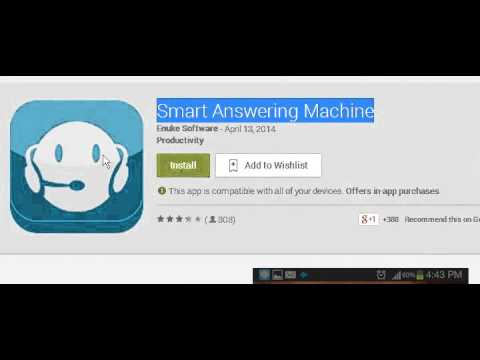Answering Machine for androide phone