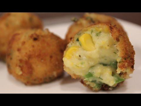 Cheese Corn Balls | Starters | Simply Jain