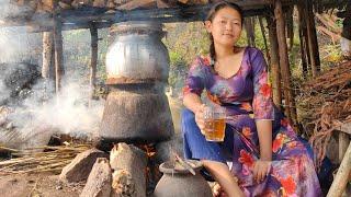 Nepali local raksi / Alcohol making
