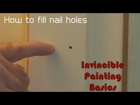 Putty nail holes super fast!!