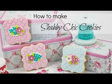 how to make easy shabby chic cookies