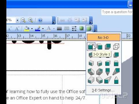 Microsoft Office Publisher 2003 Add or remove a 3D effect from a shape