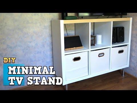 Cube Organizer TV Stand - DIY Wood Hack