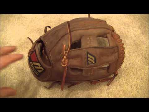 Mizuno GIC-3E Baseball Glove - Before and After Glove Relace