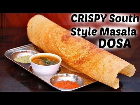 DOSA - मसाला डोसा बाजार जैसे घर पर बनाने की विधि||South Indian Style MASALA DOSA full Recipe hindi