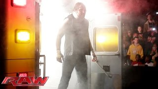 Dean Ambrose surprises Bray Wyatt from the back of an ambulance: Raw, December 8, 2014