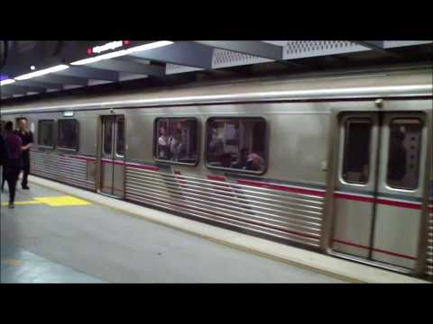 Metro Los Angeles: Red Line Trains Arriving and Departing Hollywood/Highland