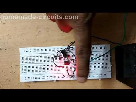 Testing a Simple Infrared Proximity Sensor Circuit using IC 741