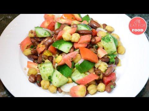 Super Bean Vegan Salad - Super Bowl LII Special 2018 │Episode 101│ I'll Eat For Food