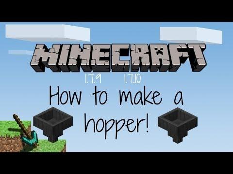 Minecraft 1.7.9/1.7.10 How to make a hopper | BabyG