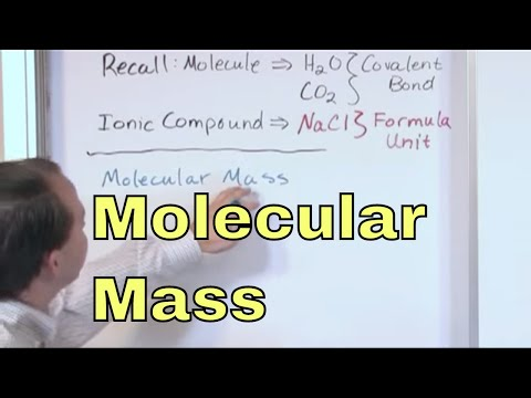 01 - Molecular Mass And Formula Mass - Learn the Formula Unit, Molecular Formula & Formula Mass