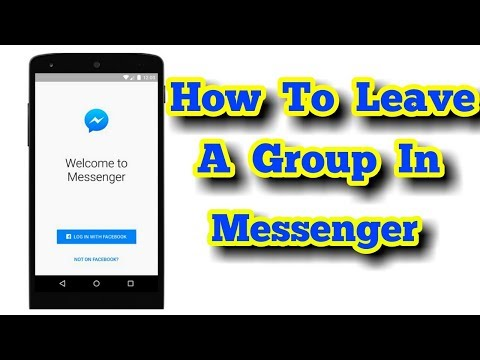 How To Leave A Group In Messenger