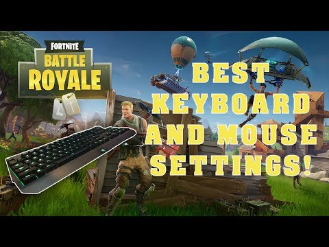 BEST KEYBOARD AND MOUSE SETTINGS FOR FORTNITE! (PS4 & PC)