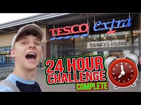 24 HOUR CHALLENGE IN TESCO!! *SUCCESS*
