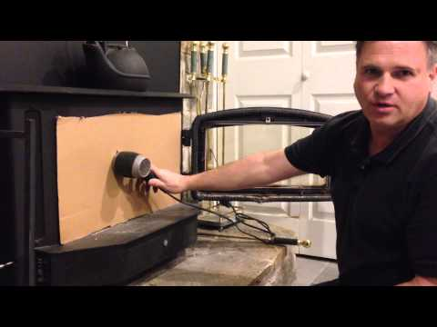 How to light a wood stove / fireplace and never smoke up the house.  2min. HD