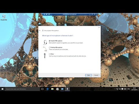 Windows 10 - Setup Speech for Dictation and Cortana