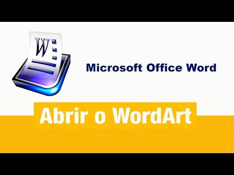 Microsoft Office Word 2007 - Como abrir WordArt