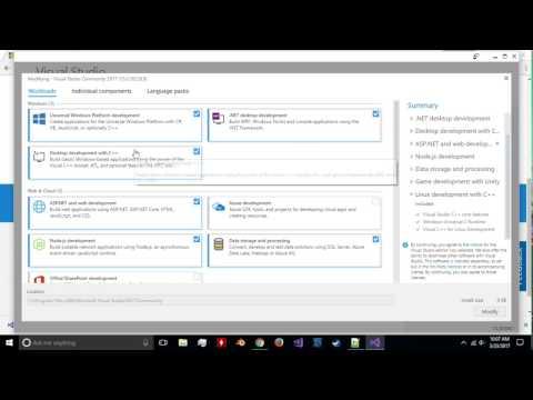 C++ programming tutorial 1: installing visual studios on Windows 10