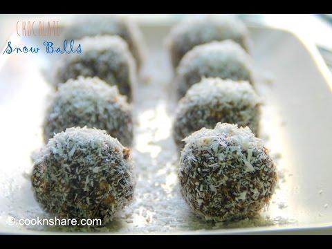 No Bake Choco Snowballs