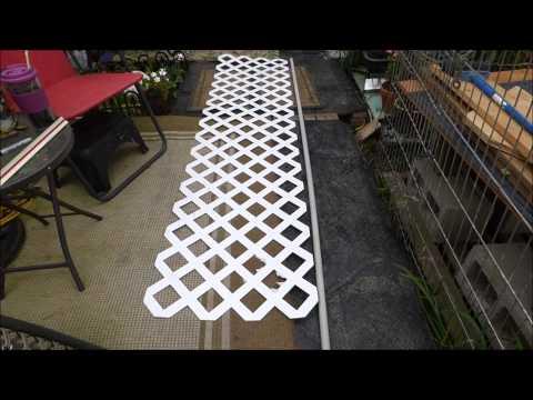 Fulltime RVing   Securing a plastic lattice barrier