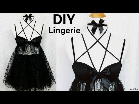 DIY Sexy Baby Doll Harness Lingerie (Hand-sew) Out of a Bra