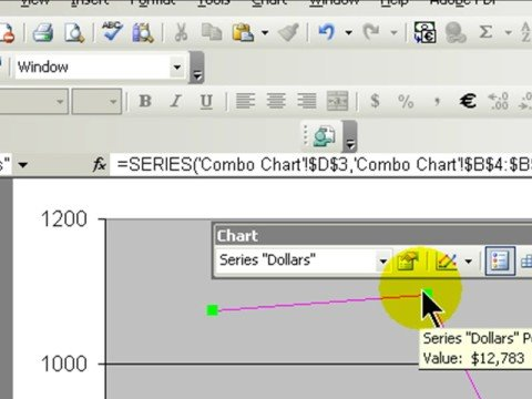 Create Combination Charts in Excel 2003