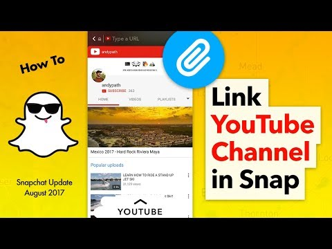 How to Link a YouTube Channel to Snapchat
