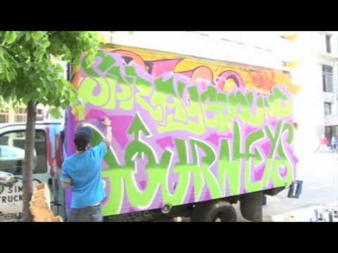 Journeys and Spray Ground Custom Graffiti Truck