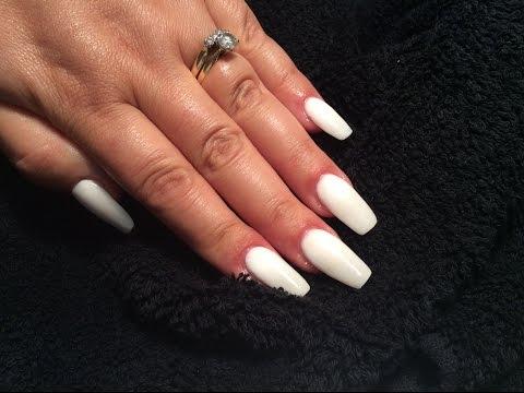 White Acrylic Nails | NAILSJAMIEBE