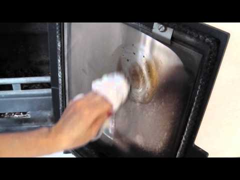 How to easily clean a wood burning stove glass window