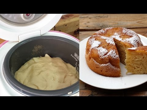 Apple cake in rice cooker