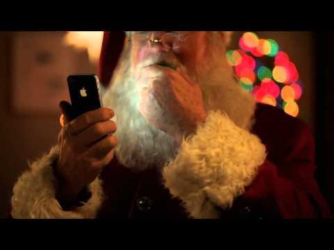 Apple iPhone 4S Siri helps Santa - iphone christmas commercial