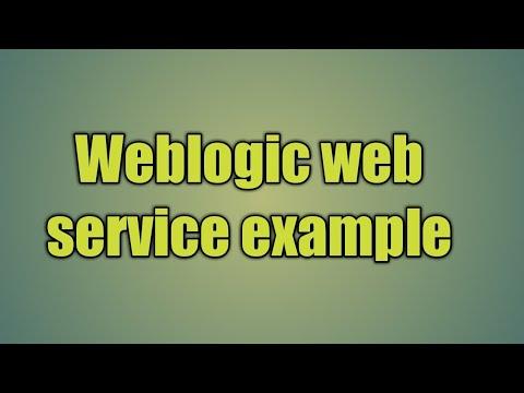 10.Weblogic web service example