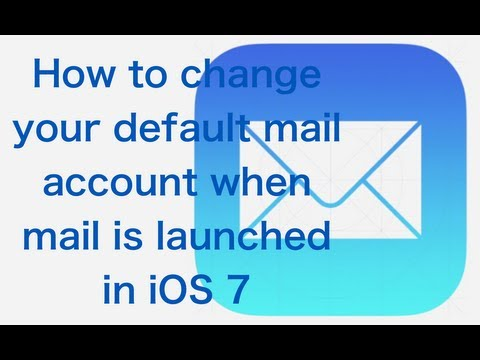 How to change your default account when mail is launched